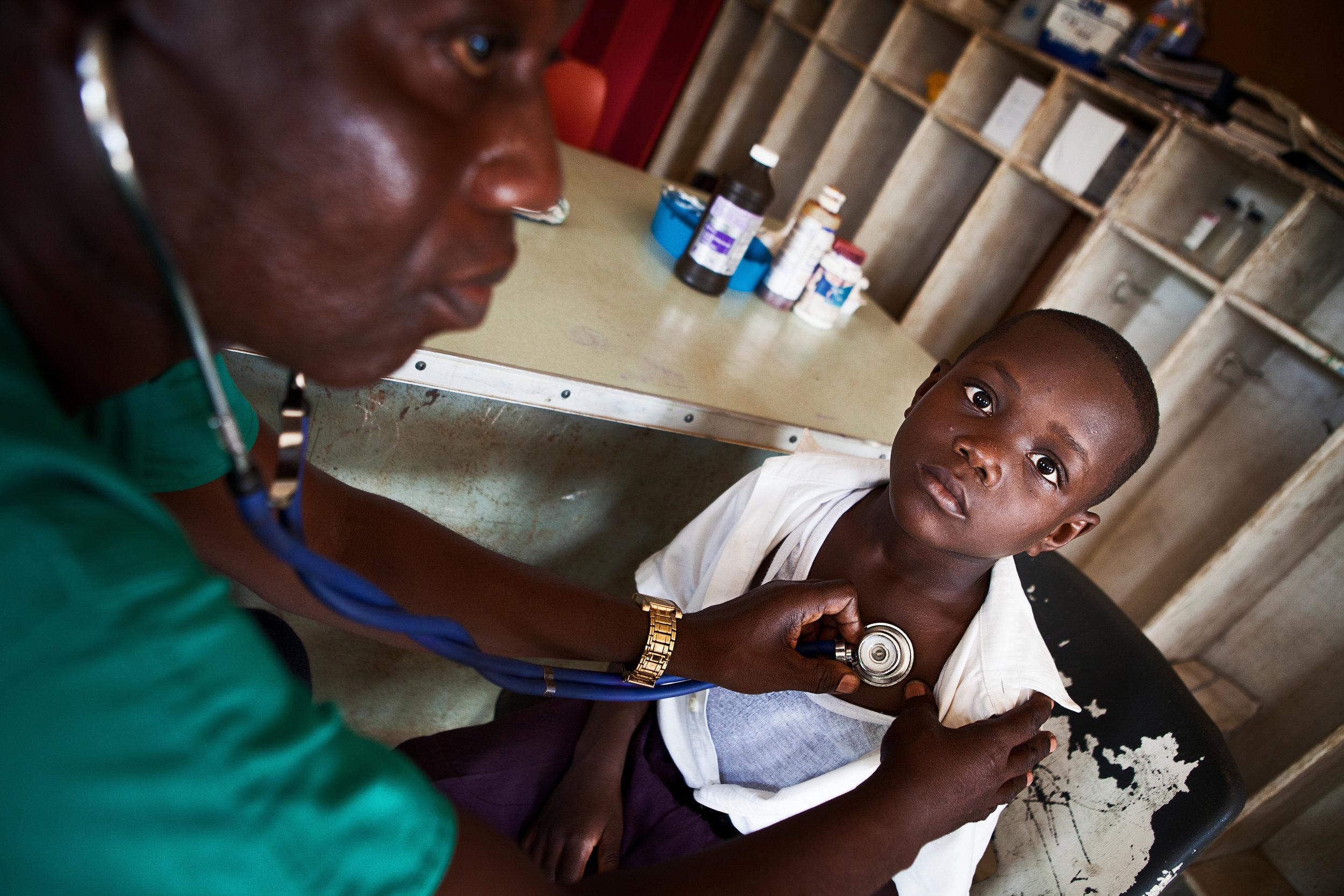 Medical care in Kenya.  Photo courtesy Silent Images