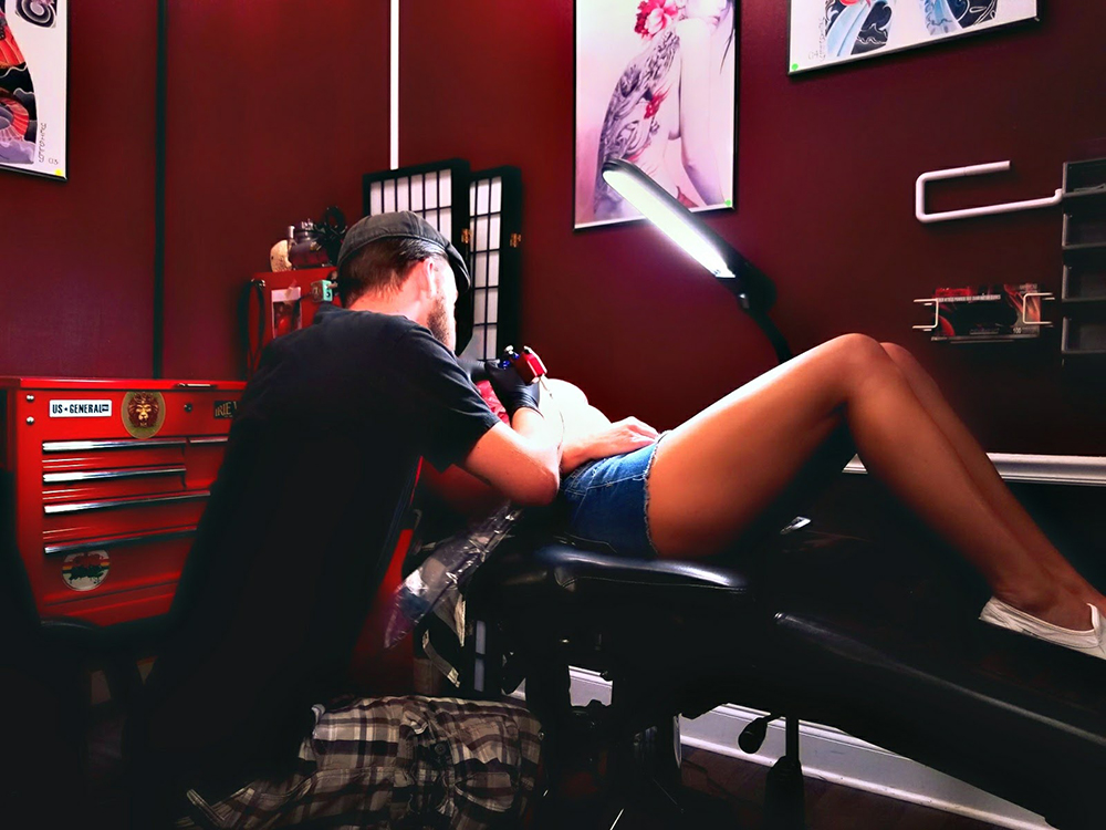 It's really important that you have a connection with your tattoo artist because you are going to be spending numerous hours with them, in close proximity and super-exposed. -