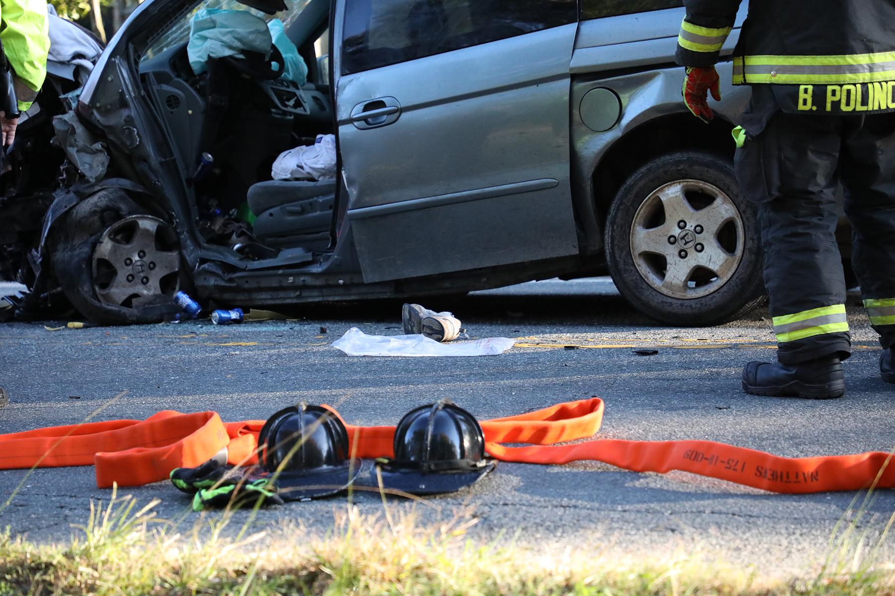 Vehicle in the Wednesday morning crash on John Street.