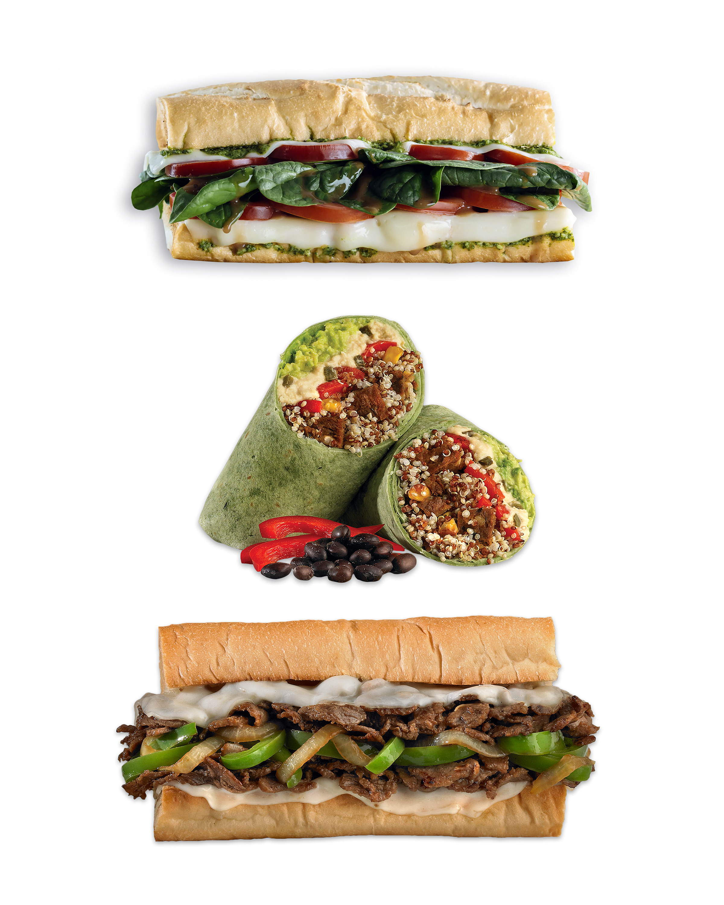 Which WhichWhy? Perfect for when you need something fast. Several vegetarian options. - whichwhich.com930 Park Center Dr.M - Sa 10 AM - 9 PM, Su 11 AM - 8 PM, closed Monday(Photo source whichwhich.com)