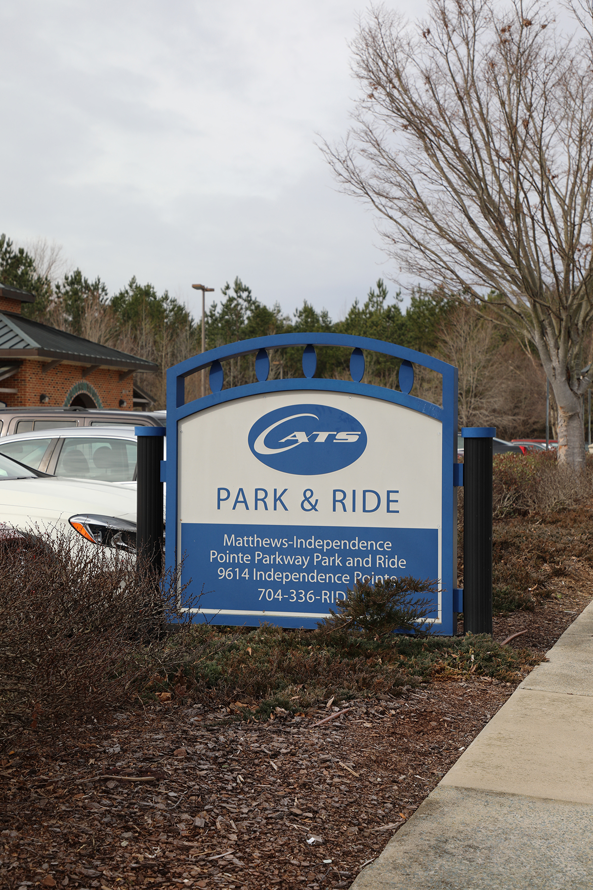 Park and Ride center at Indpendence Pointe Parkway.