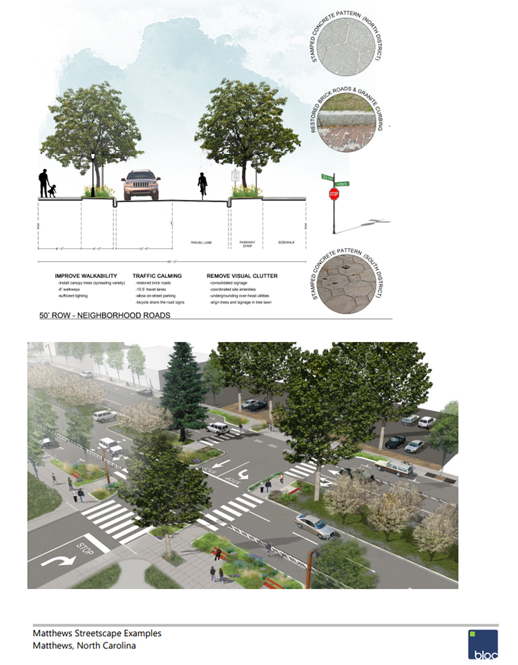 News About Town: Tonight the Board of Commissioners will consider entering into contract with Bloc Design for streetscape improvement design work for the downtown portion of Trade Street through North End and a portion of the downtown area of John Street. The cost for design work has been estimated by Bloc Design at $37,000 and, if approved, may not exceed $41,250. Their suggestions might include sidewalk improvements, traffic calming measures, and a cohesive design. The planned design will function as a schematic for future reconstruction of sidewalks and aesthetics within the study area.Previously the Board hired McGill Associates for a streetscape design. The 2016 renderings and document detailed designs and improvements that projected up to twenty years in the future. It is unclear why another design is being sought now. -