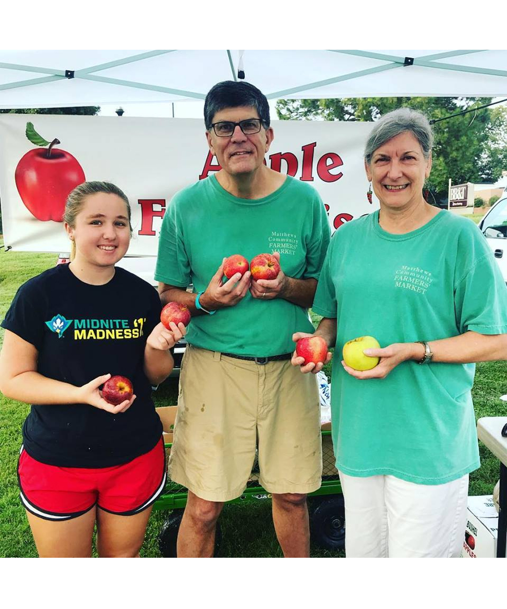 Matthews Community Farmer's Market: Show up early and buy your weekly groceries, then fill in a volunteer slot. The Market needs help with the Community House, morning set up, noontime take down, and more. -