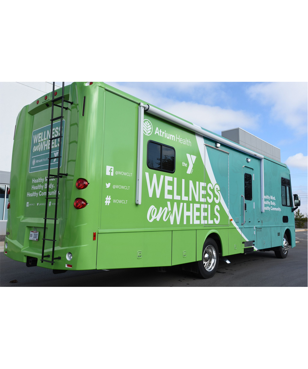 "News Around Town: Atrium Health and the Greater Charlotte YMCA have partnered to create the Wellness on Wheels program (@WOWCLT). WOWCLT covers territory all over the greater Charlotte area and ""provides health screenings, nutrition education and lifestyle management to prevent high blood pressure, type 2 diabetes and other chronic diseases"" for free. The unit will stop at Mount Moriah Church (381 Crestdale Rd., Matthews) from 3 to 6 p.m. on May 16 (and the third Thursday of every month at that same time). No appointment is necessary. -"