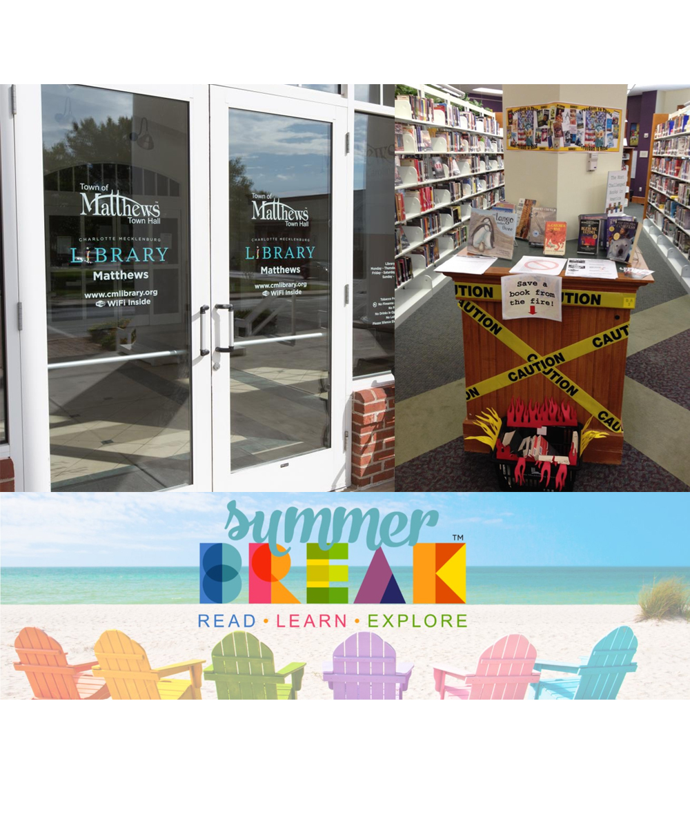 Matthews Library: Always a favorite because free, but also the summer programs look extra fun. This week Discovery Place has programs for all ages. Check the schedule to see what else is going on. - 230 Matthews Station St. (Photos from the Library's website)