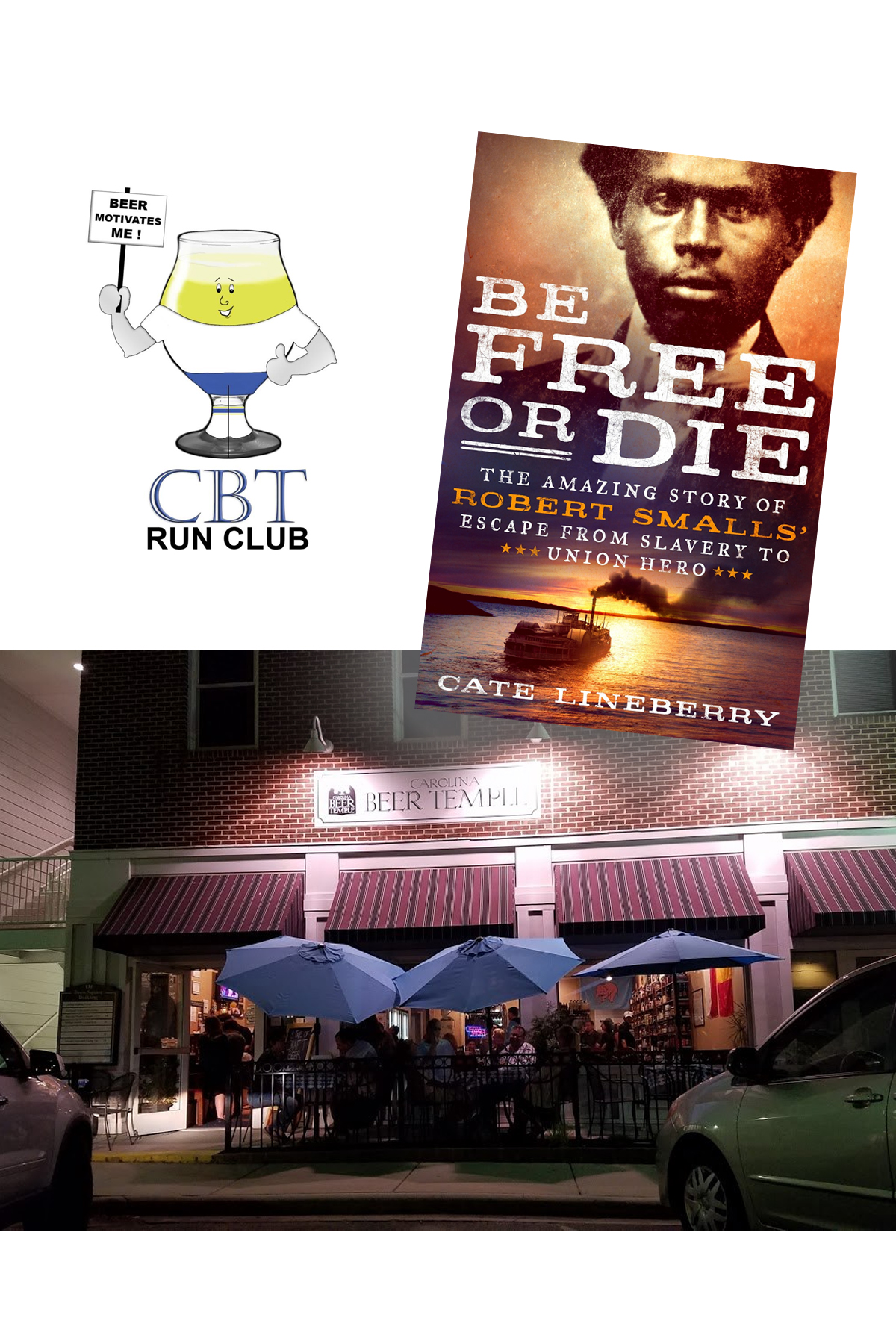 Carolina Beer Temple Book Club: If you've ever hung out in downtown Matthews on a Tuesday evening, you probably know about the Carolina Beer Temple's Tuesday Run Club. But did you know that once a month they also host a book club after the run? In case you're more into reading than running, don't worry, you don't need to run to participate in the book discussion and the books will not be about running. For July, the club will be discussing the book Be Free or Die: The Amazing Store of Robert Smalls Escape from Slavery to Union Hero by Cate Lineberry.Date: Tuesday, July 30, 2019 8:00 pm-9:00 pm - 131 Matthews Station St #1C, Matthews, NC 28105