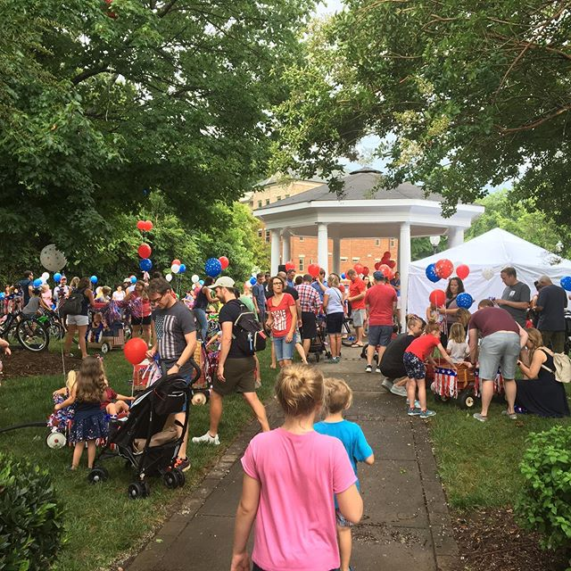 Raise your hand if you made it to @townofmatthews People's Parade? Thank you Park and Rec for throwing a great party! #matthewsnc #july4th