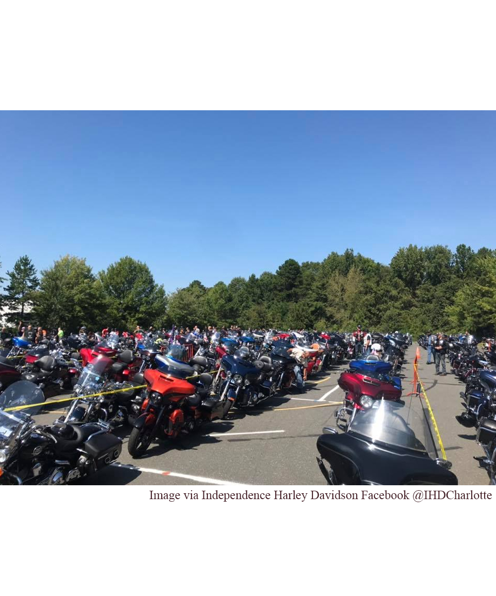 News Around Town: Yesterday afternoon, motorcyclists from all over NC rode in a fundraiser to benefit North Carolina State Trooper Christopher Wooten. Officer Wooten was paralyzed from the neck down when his motorcycle was struck by another vehicle while he was on duty. The benefit run, a 50 mile escorted ride, started at zMAX Dragway in Concord, NC, and finished at Independence Harley Davidson in Matthews. Those who witnessed the procession stated it was miles long. -