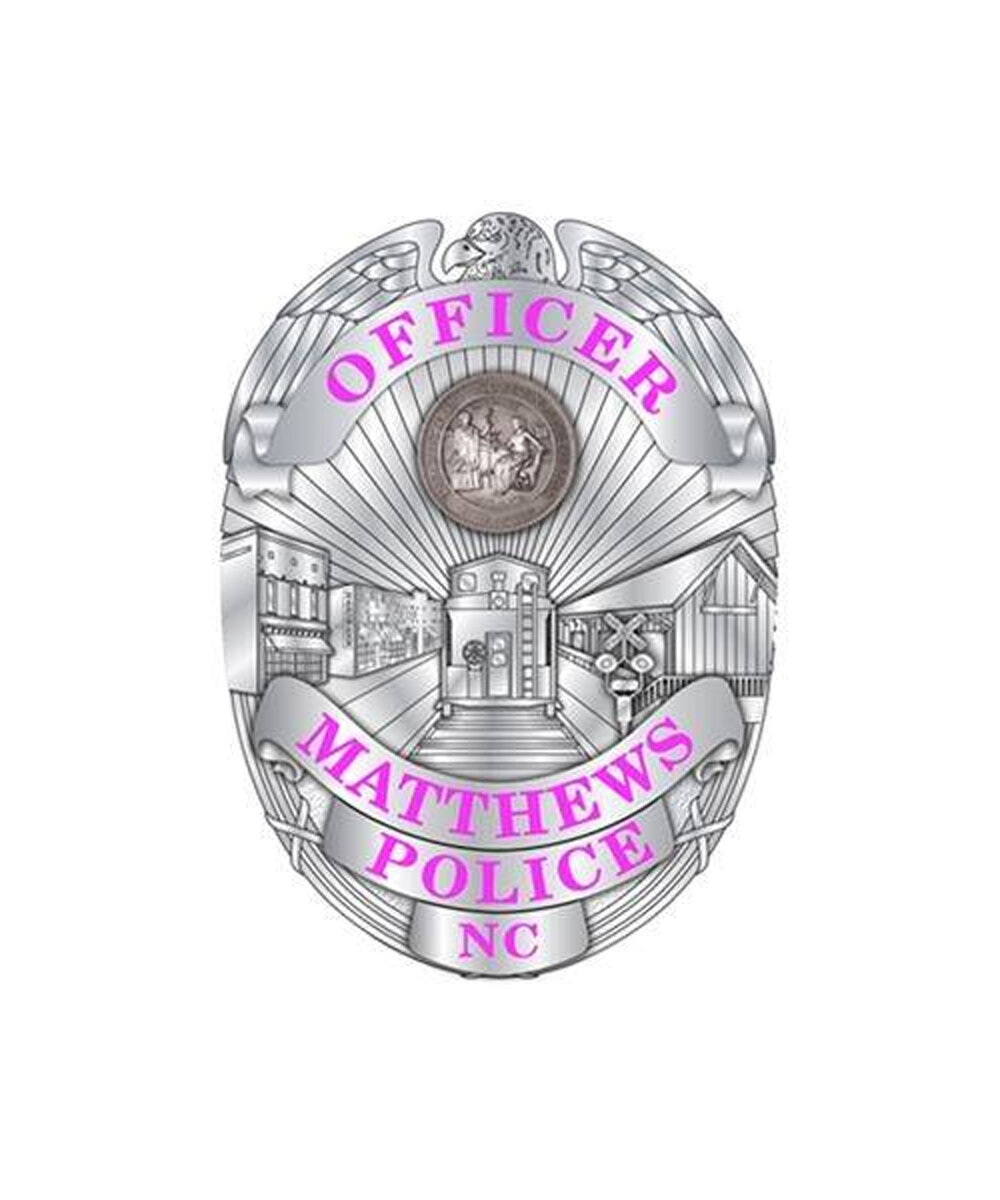 News About Town: If you visit the Matthews PD's Facebook page you'll notice a slightly different badge as a profile image. Their profile shows a department badge with pink lettering in honor of Breast Cancer Awareness Month. (Remember the tee shirts from last year?) According to the CDC, breast cancer is the second most common cancer for women (first is skin cancer). NC women have a 1-in-8 chance of developing breast cancer. -