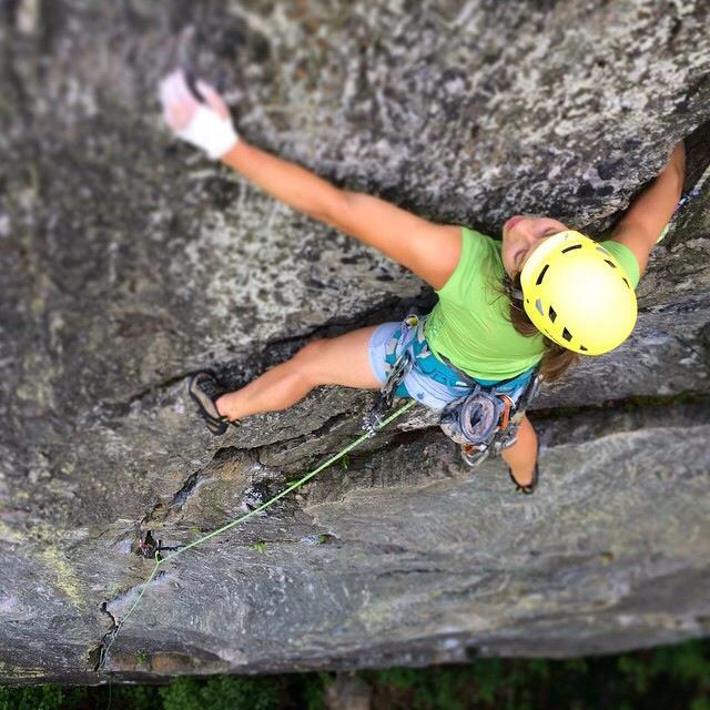 BRooke Hadden - Brooke has been playing and climbing in Chattanooga and the Southeastern region for 12 years. She was most recently based out of St. George, Utah for 3 years, where she worked as a Wilderness Field Instructor and gained experience on desert sandstone, limestone, and granite. She was drawn back to the Southeast to guide with She Moves Mountains and help operate a sustainable homestead farm in Trenton, Ga, where she cultivates and chefs her own Farm to Table produce. Though she misses telemark skiing in the Wasatch and romping up alpine granite, the sweet southern sandstone has her heart.