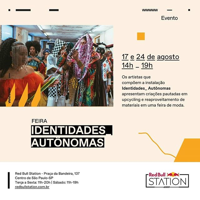 Amanhã nós estaremos na Feira #identidadesautonomas no @redbullstation , com peças da @hidaka_upcycling @upcyqueen_ @pgloug @acervodecoisinhas @vanestilo12 @gabyloayza  Participarão também as marcas e artistas: @marcapote @mammaflor @normaldaniel @luchiniluchini @afroish_7 @helguitcha .  Estão todos convidados! Aproveitem para ver a exposição da @hidaka_upcycling na instalação Identidades Autōnomas, junto com mais 15 artistas, no mesmo espaço. Entrada gratuita. ♻️❤️