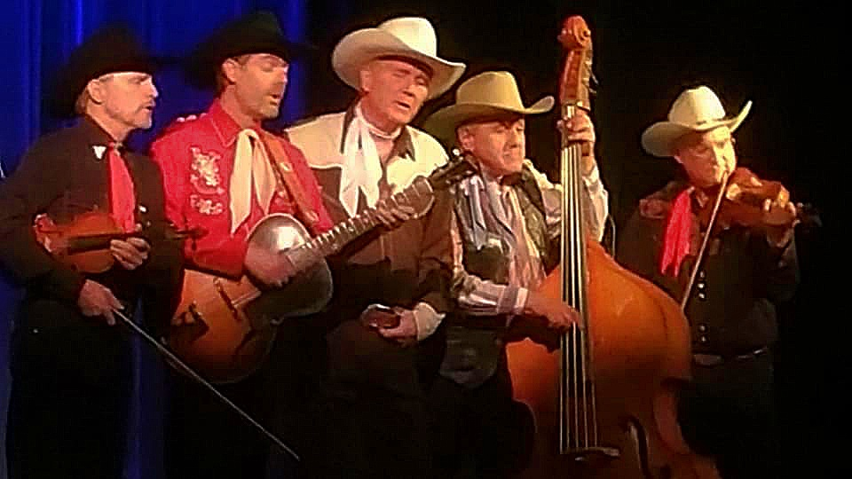 """The acoustics were so wonderful that we stepped in front of the mics to sing """"Blue Prairie"""" from the edge of the stage."""