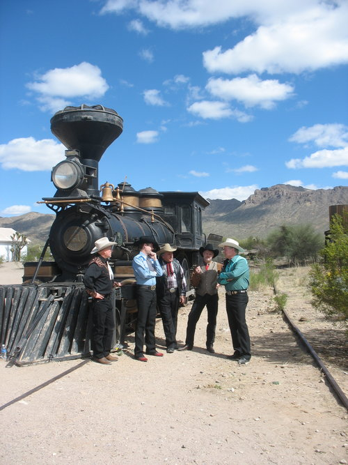 Wisely deciding not to rob the train in Old Tucson.