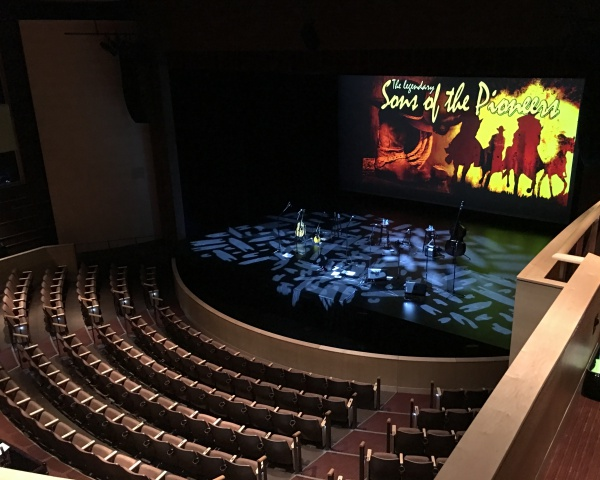The stage before the sold-out show at the Lone Tree Arts Center. Another fabulous venue.
