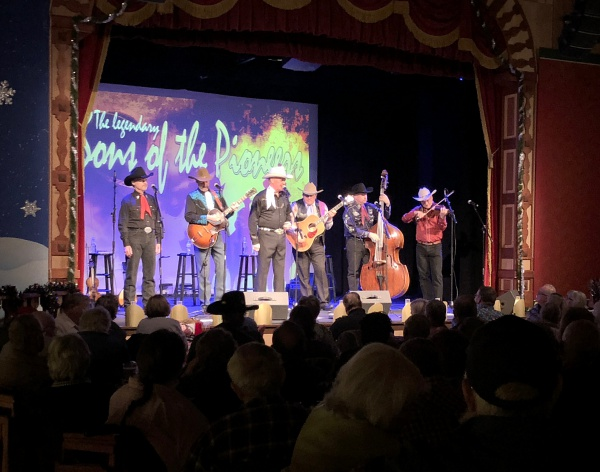 Chuck's first time onstage with the Pioneers—one of 5 sold-out shows at the Gaslight Theater in Oro Valley AZ.