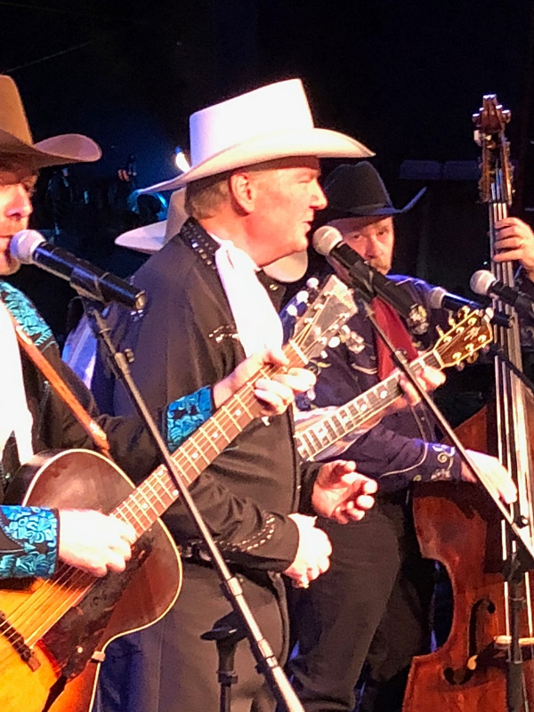 Dusty and Chuck onstage at the Gaslight Theater.