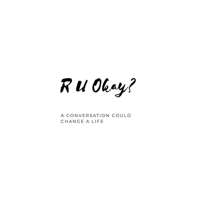 Today is R U Okay? Day. We all experience life's ups and downs, and sometimes the listening ear of a friend or loved one makes all the difference. If you know anyone who might be struggling, start a conversation.