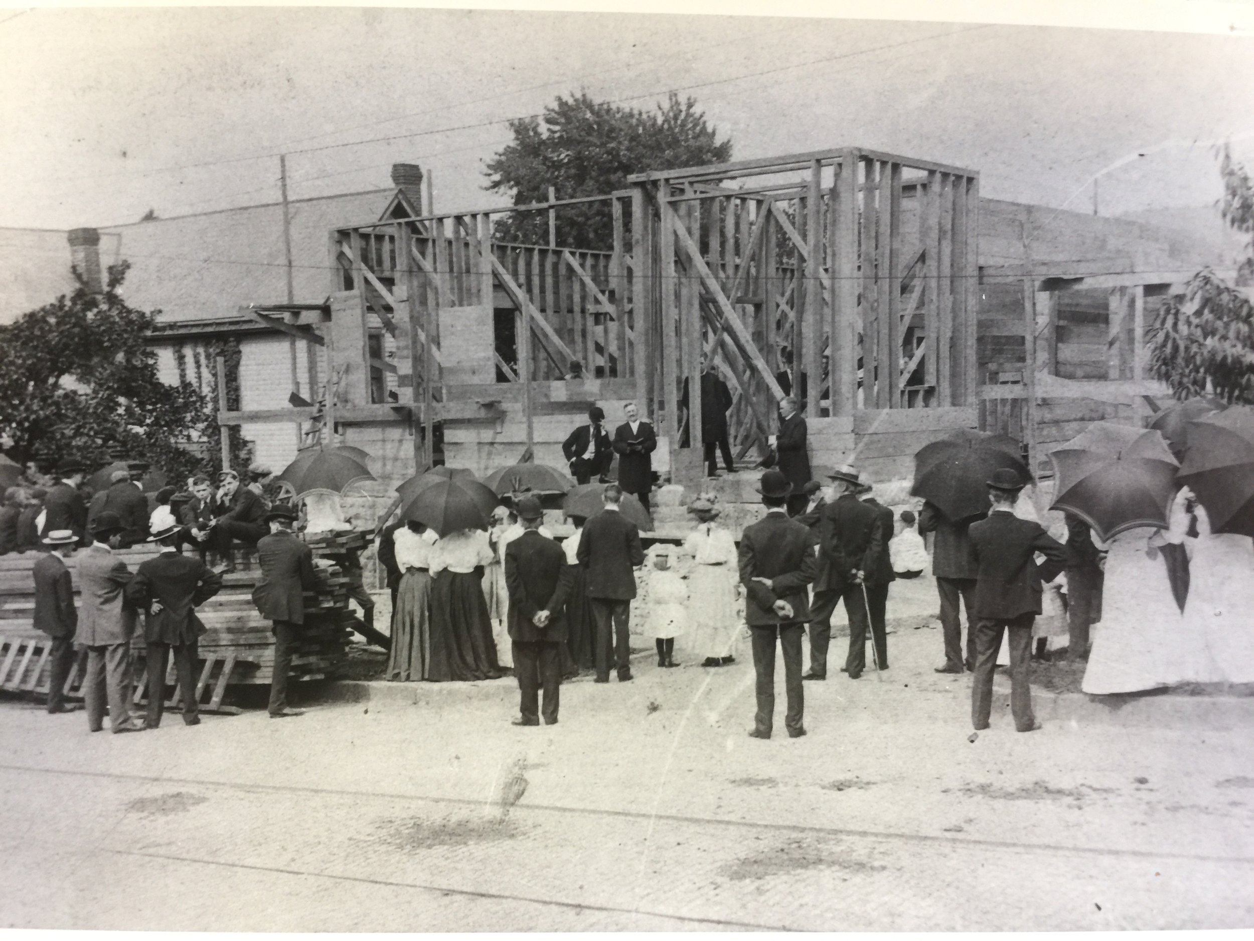 Dedication of the cornerstone of Zion Lutheran Church - 1906