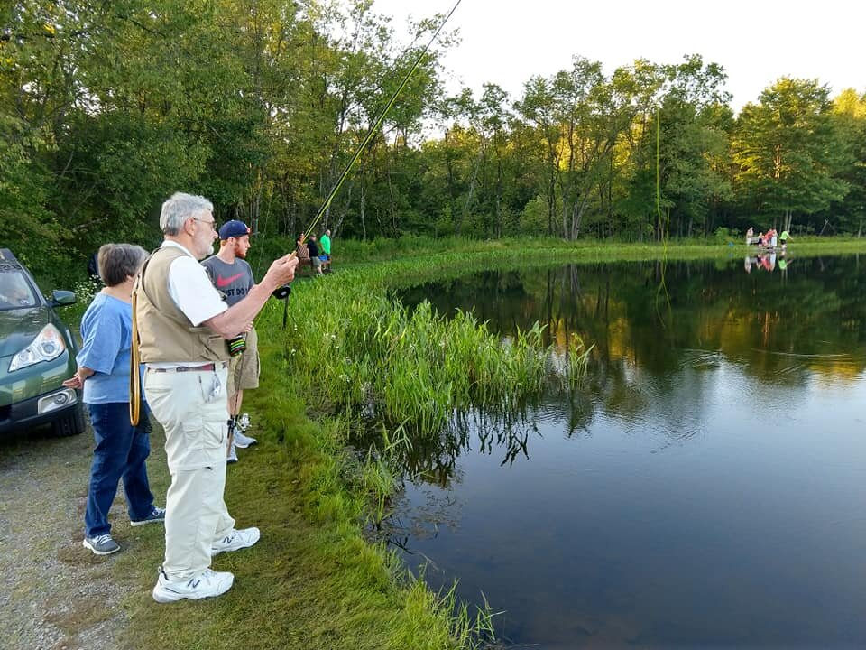 Family Vacation Bible School - Rev. Robert Rigg sharing his fly fishing expertise - August 2019