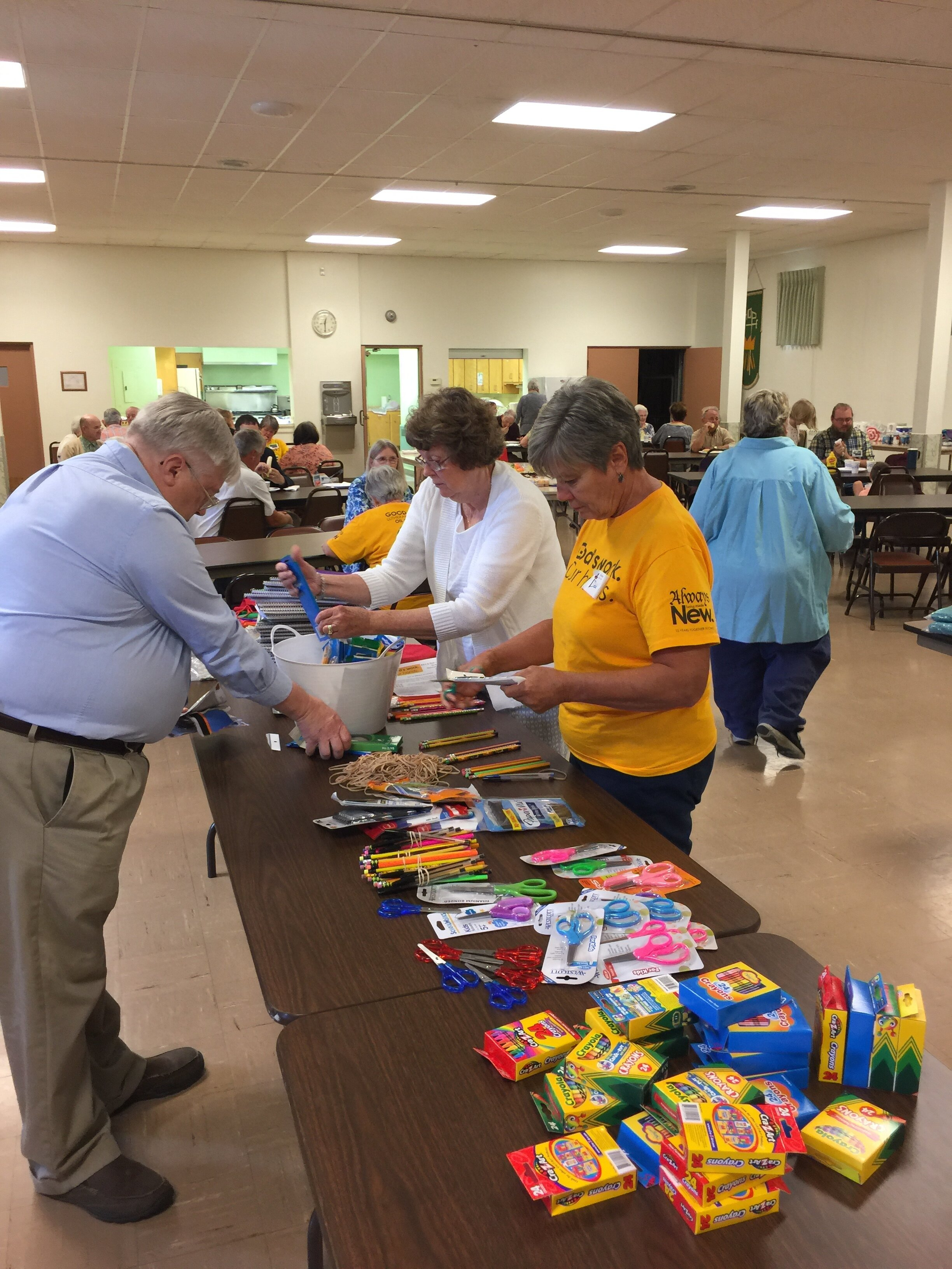 Day of Service school supply project - September 2019