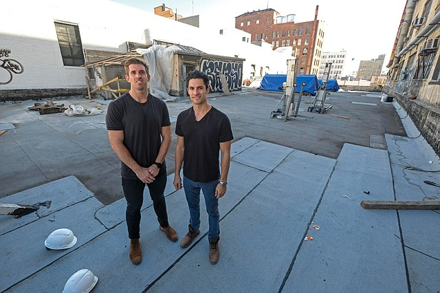 Joint Project: Bow West Capital's Sean Beddoe, right, and Peter Phelps teamed with Green Street Agency on the cannabis office project. Photo by  Ringo Chiu .