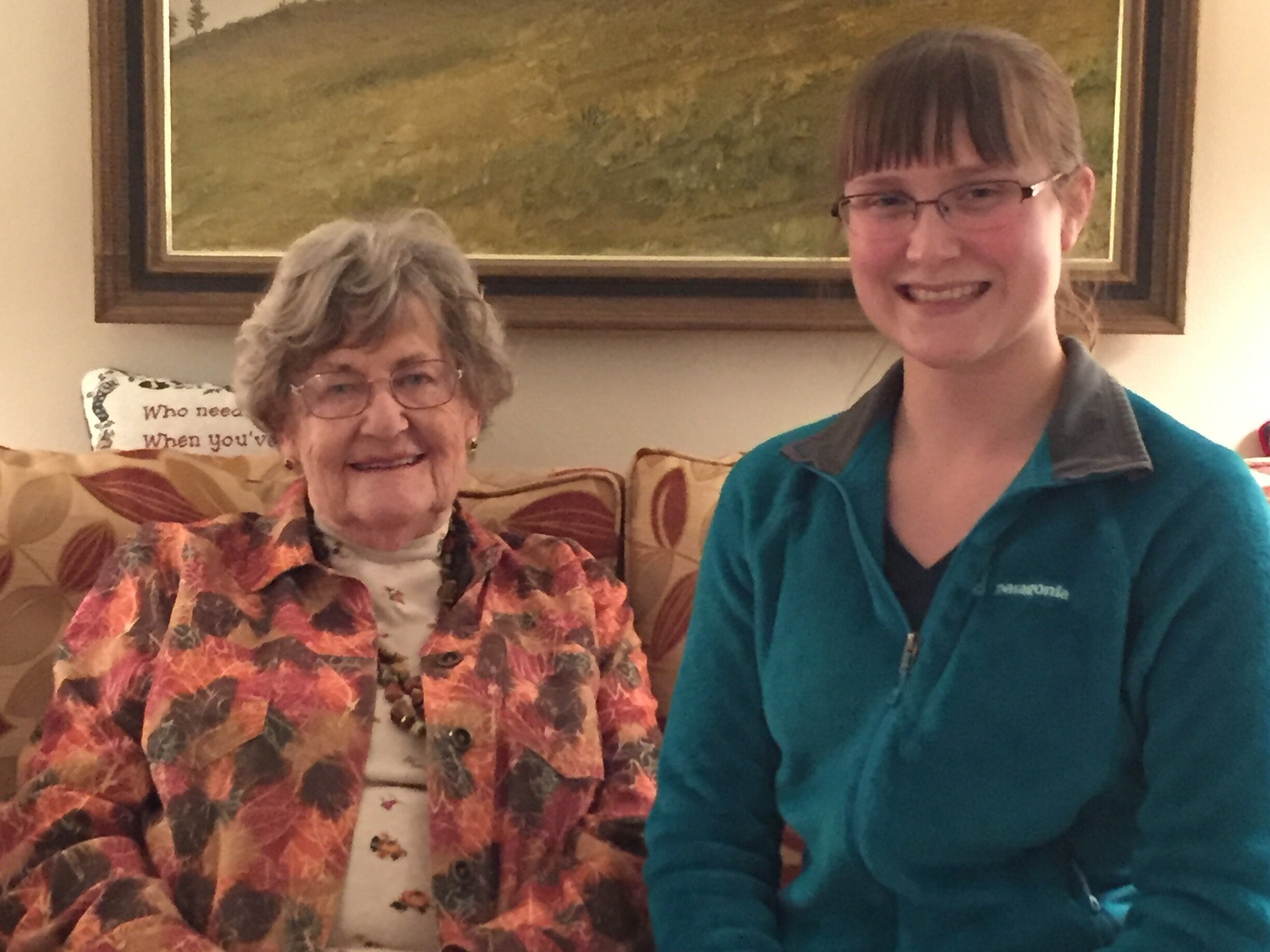 Joanne Updegraff with her granddaughter, Marie.