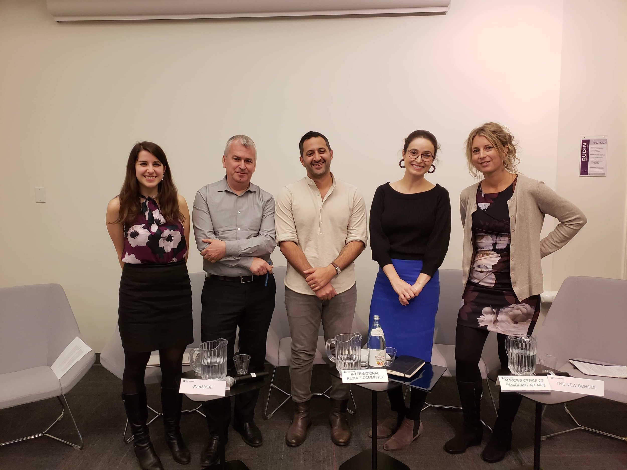 'Building New homes: urban action to address migration' - Panel at NYU Wagner School, October 25th, 2018