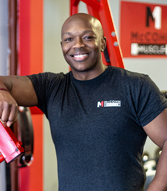 Quentin McCohn is the owner and one of the personal trainers at McCohn Muscle in Worthington, Ohio.