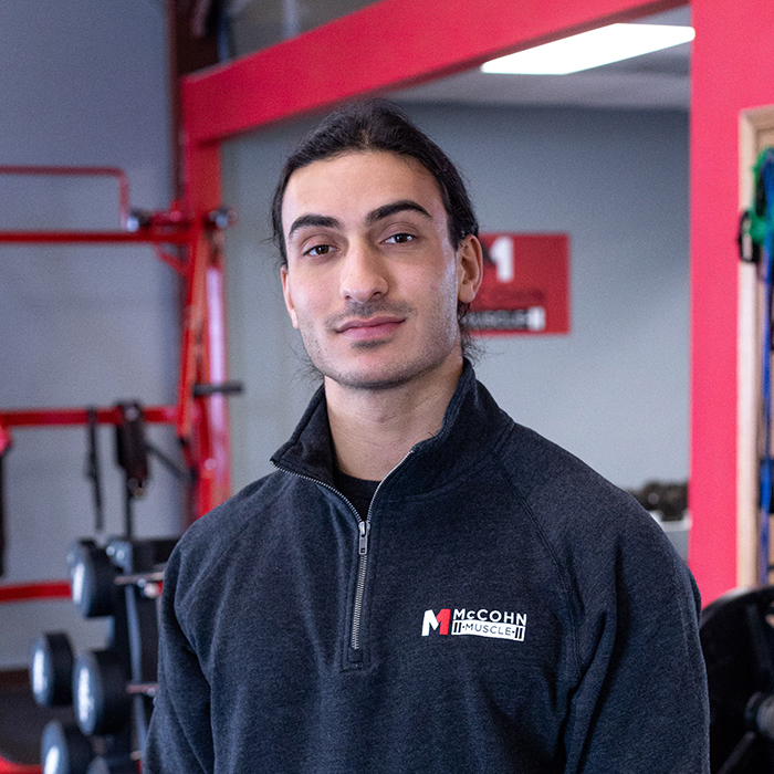 Quentin McCohn is the owner and one of the trainers at McCohn Muscle in Worthington, Ohio.