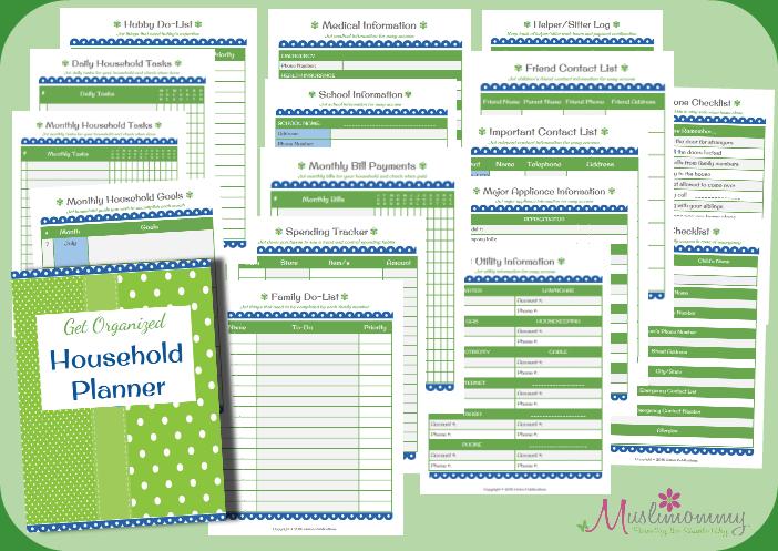 GO Household Planner Set