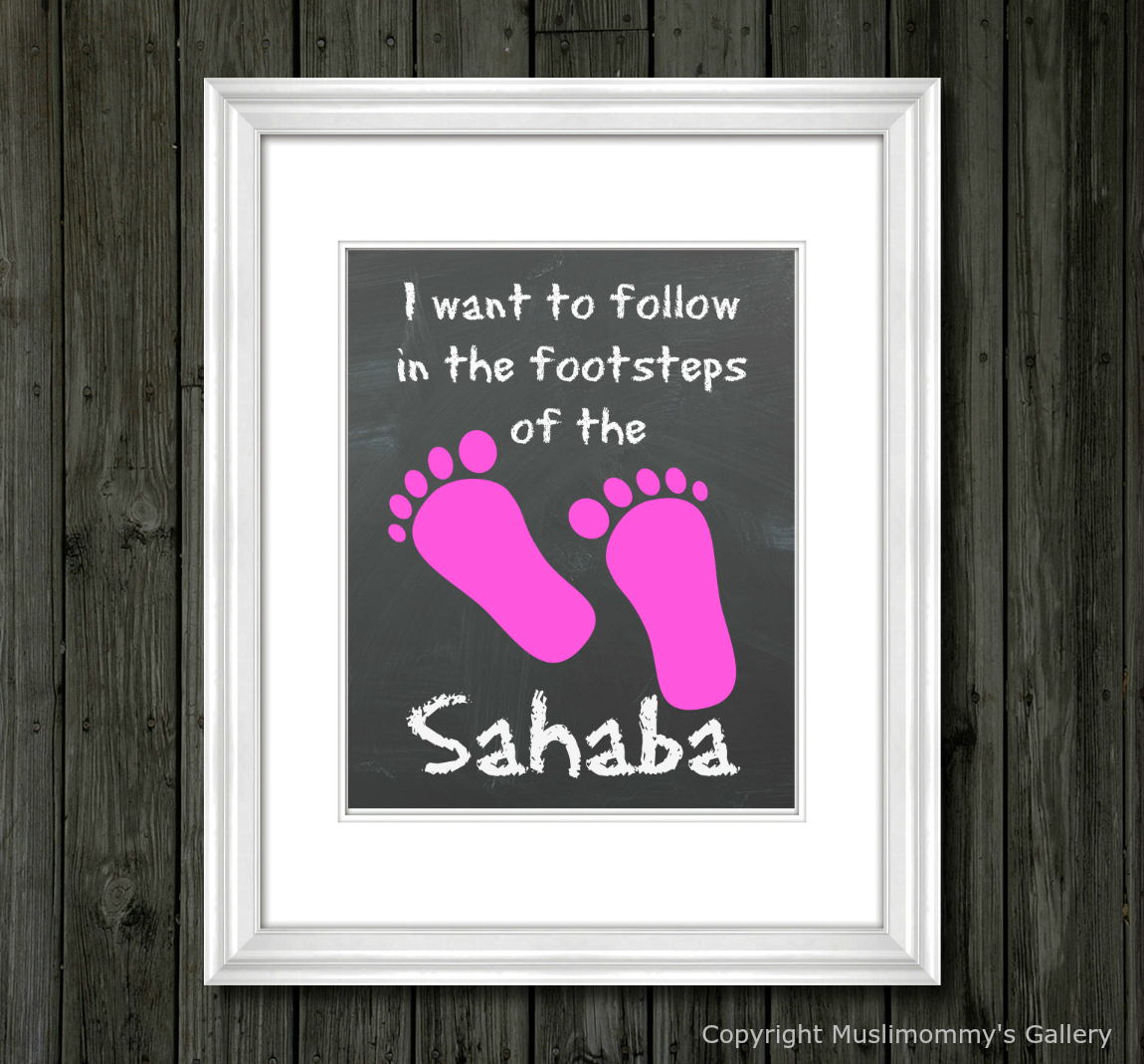 FOOTSTEPS OF THE SAHABA (PINK)