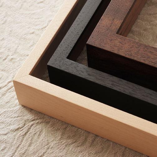 - natural maple / black-stained wood / walnut-stained wood -