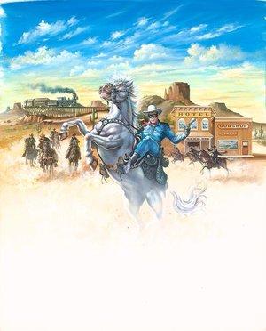 The Lone Ranger Ad Art