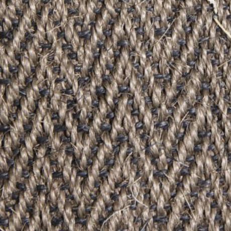 Pewter Herringbone   100% Sisal. Width: 4m. Pile Height: 6mm