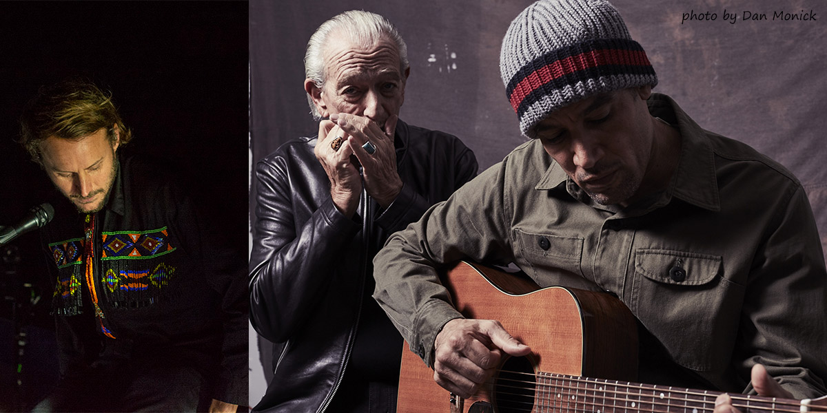 Ben Howard and Ben Harper with Charlie Musselwhite