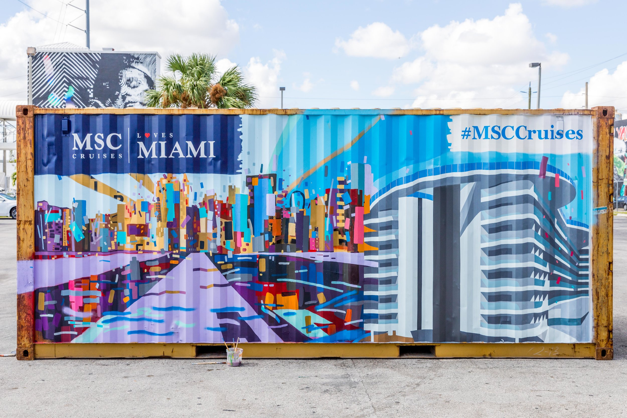 MSC Cruises Container, Side View