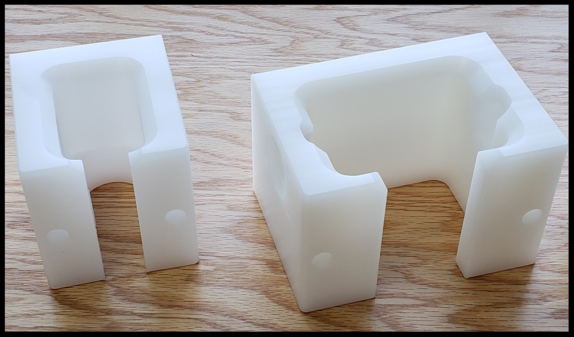Test fixture harness holding blocks
