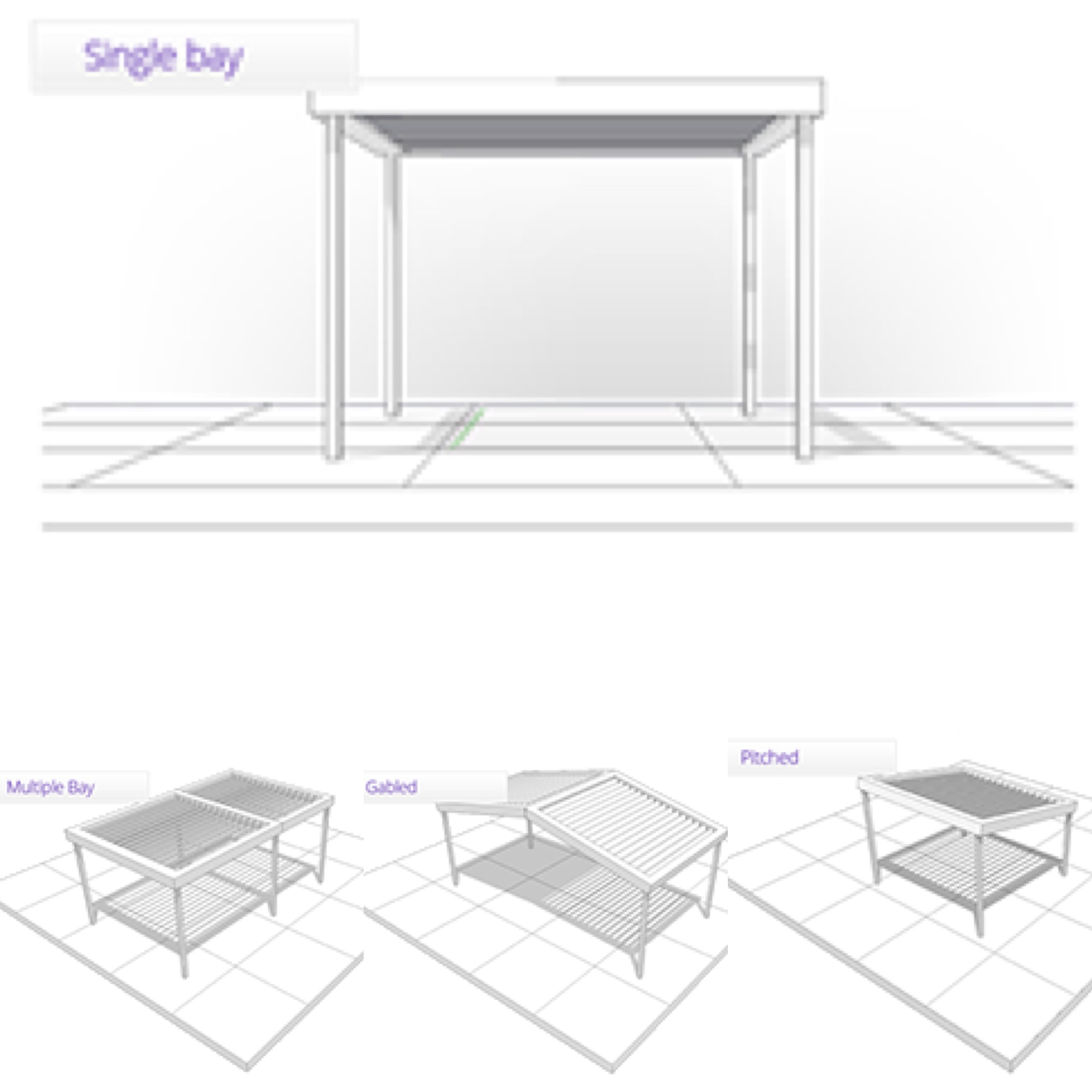Design - Vergola® can be built to suit any style whether flat, pitched, gabled or inserted into an existing frameFrom single bays to multiple bays, a Vergola® can be designed into the smallest opening to covering large areas.