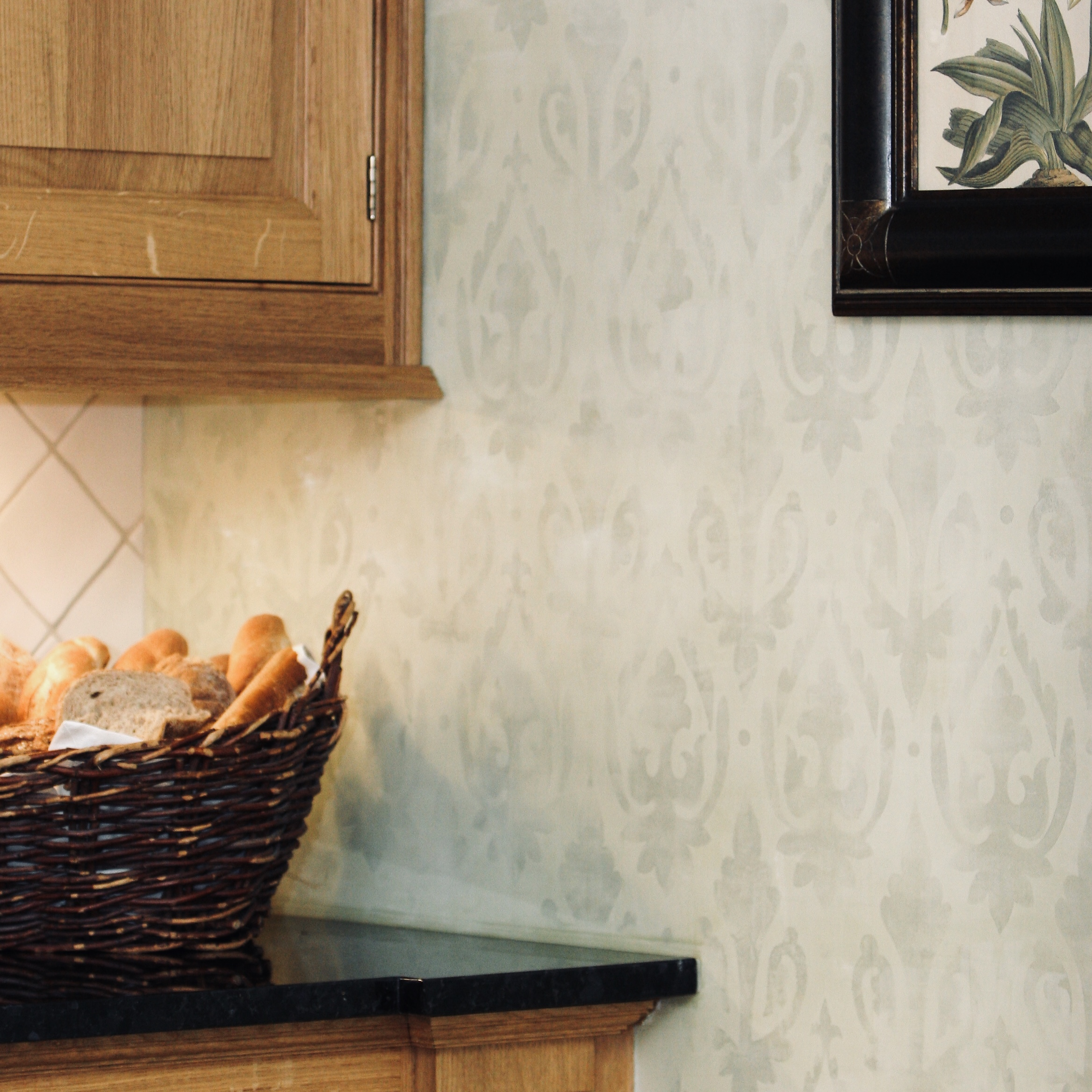 Wallpaper Inspired custom stencils -