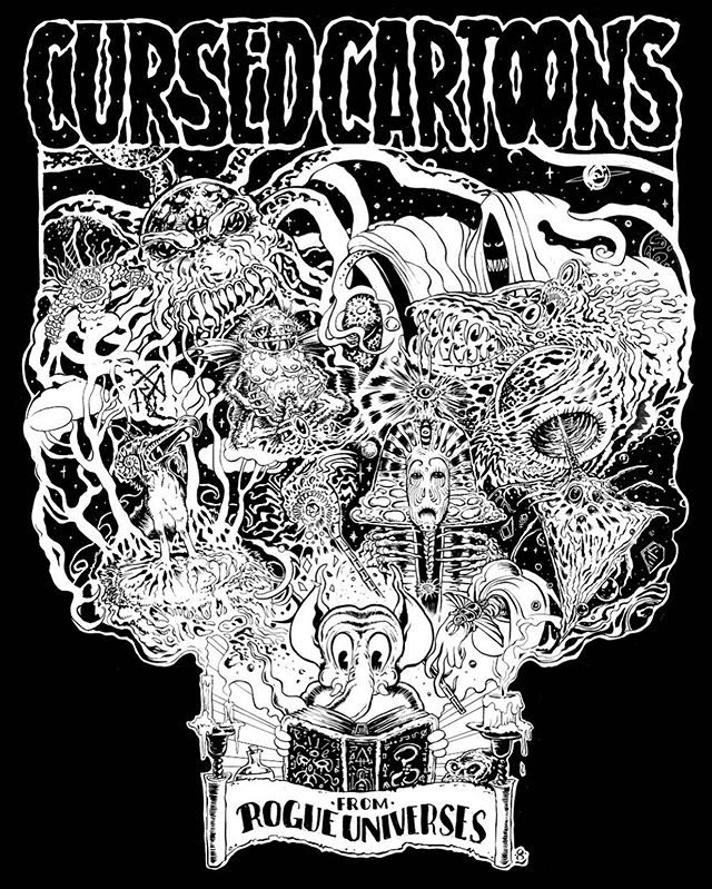 This incredible art by @jonweber8 is your first taste of Cursed Cartoons from Rogue Universes, our next project here at Oh Nothing Press. What cosmic horrors have been summoned by ink and celluloid? How is our corporate monoculture linked to arcane rituals disguised as entertainment? Find out... soon.