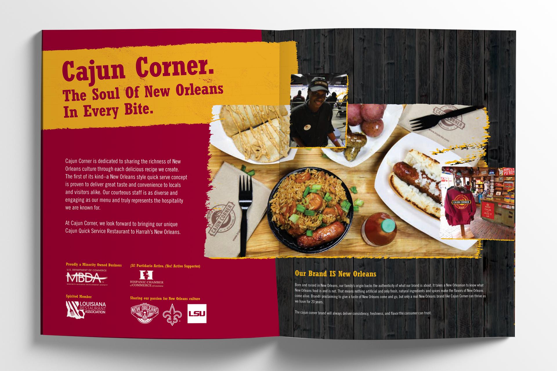 Cajun Corner Brochure Booklet