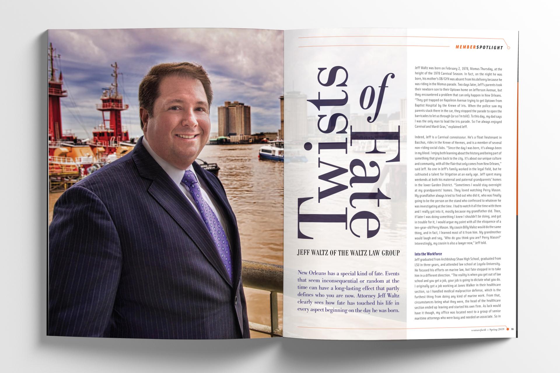VentureForth Magazine Editorial Spread