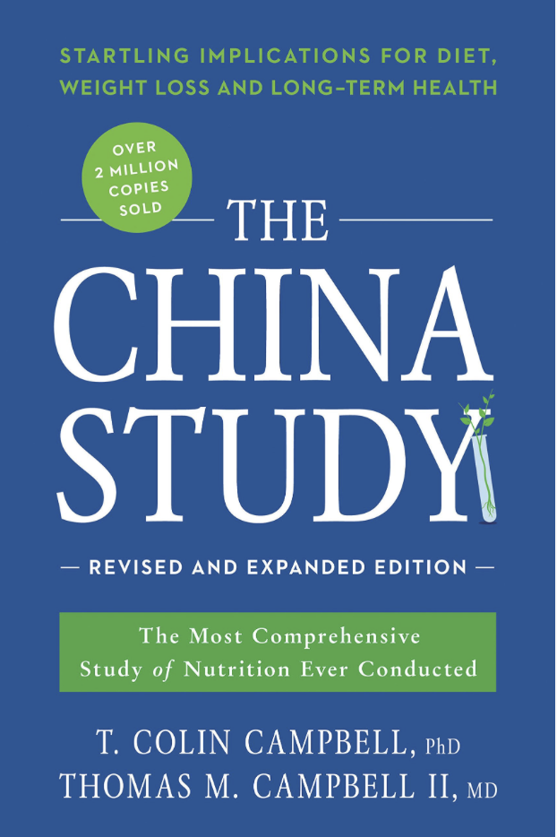 The China Study - Dr. T. Colin Campbell, PhD and Dr. Thomas M. Campbell II, MDThe China Study examines the effect of animal protein intake on cancer risk and suggests improving your health by focusing on a plant-based diet.
