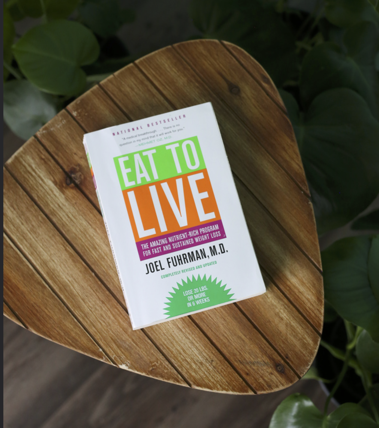 Eat to Live - Dr. Joel Furhman, MDA fascinating, science backed look at whole food plant based eating with emphasis on nutrient density. Easy to read and follow.