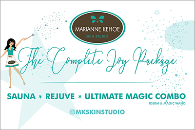 The Complete Joy Package   Come in today for this relaxing and holistic package. This 2 hour experience will leave your body feeling completely rejuvenated and replenished. We start by ridding your body of toxins and impurities, then infusing your skin with precious minerals, nutrients, and vitamins that are critical to stimulate higher levels of cellular activity. You will walk away feeling completely renewed, feeling like a whole new YOU!