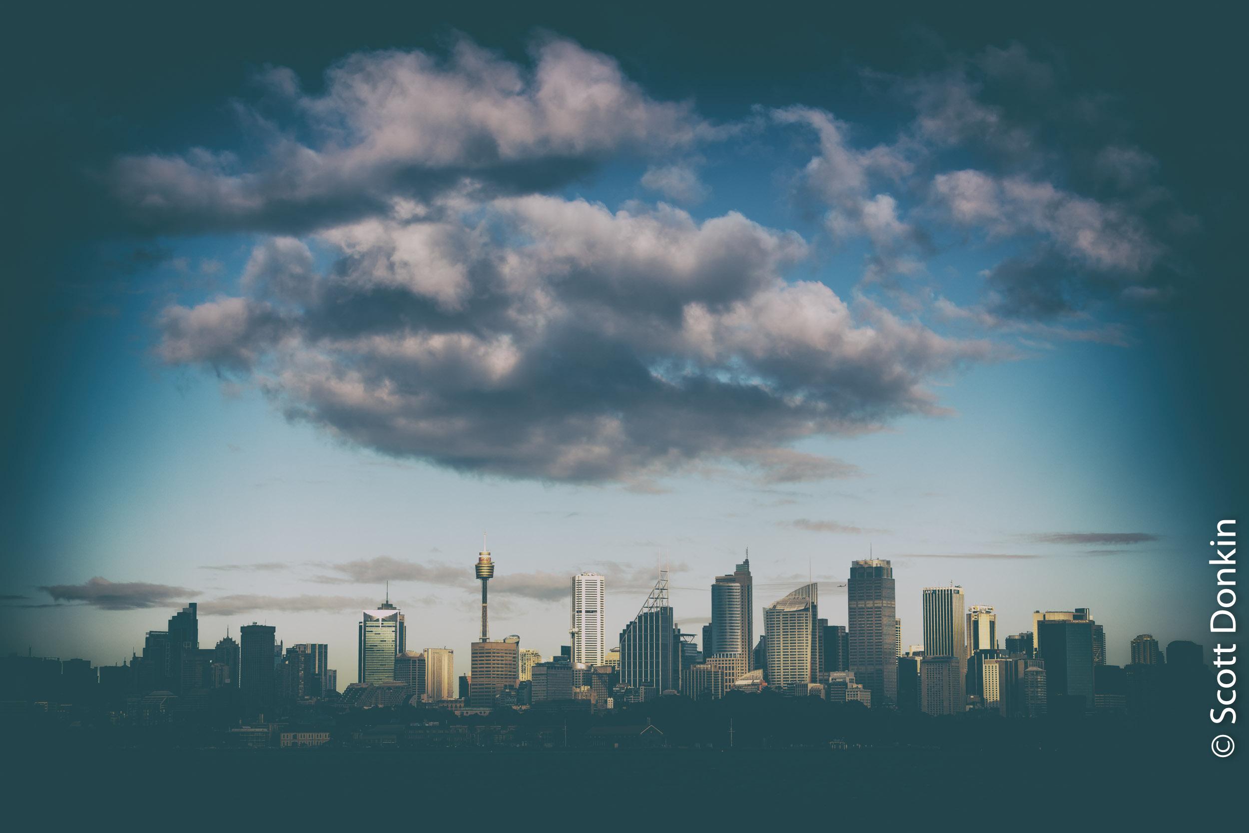 Sydney city skyline.