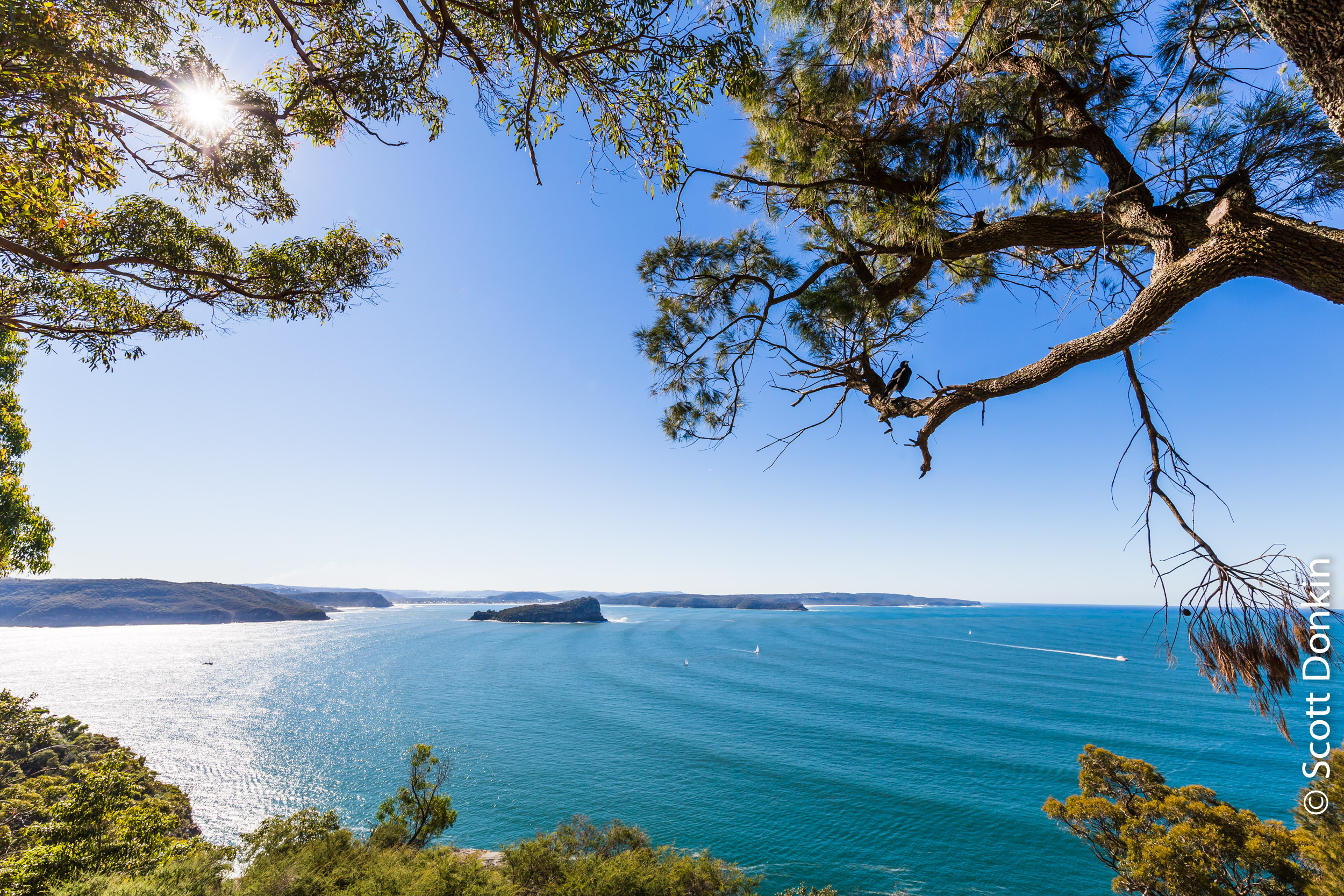 Lion Island from West Head, Sydney.