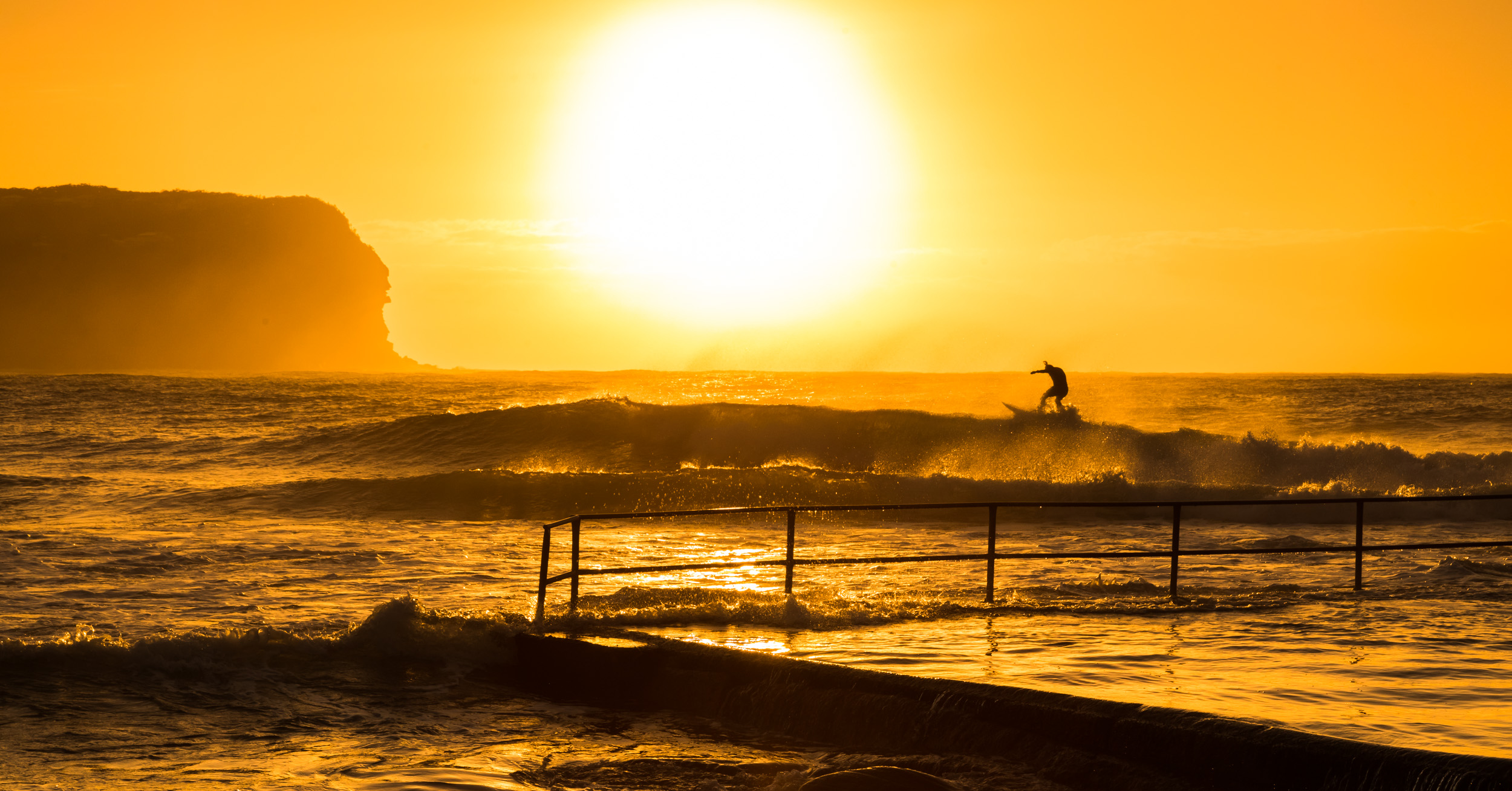 Surfing at dawn. Central Coast, New South Wales.