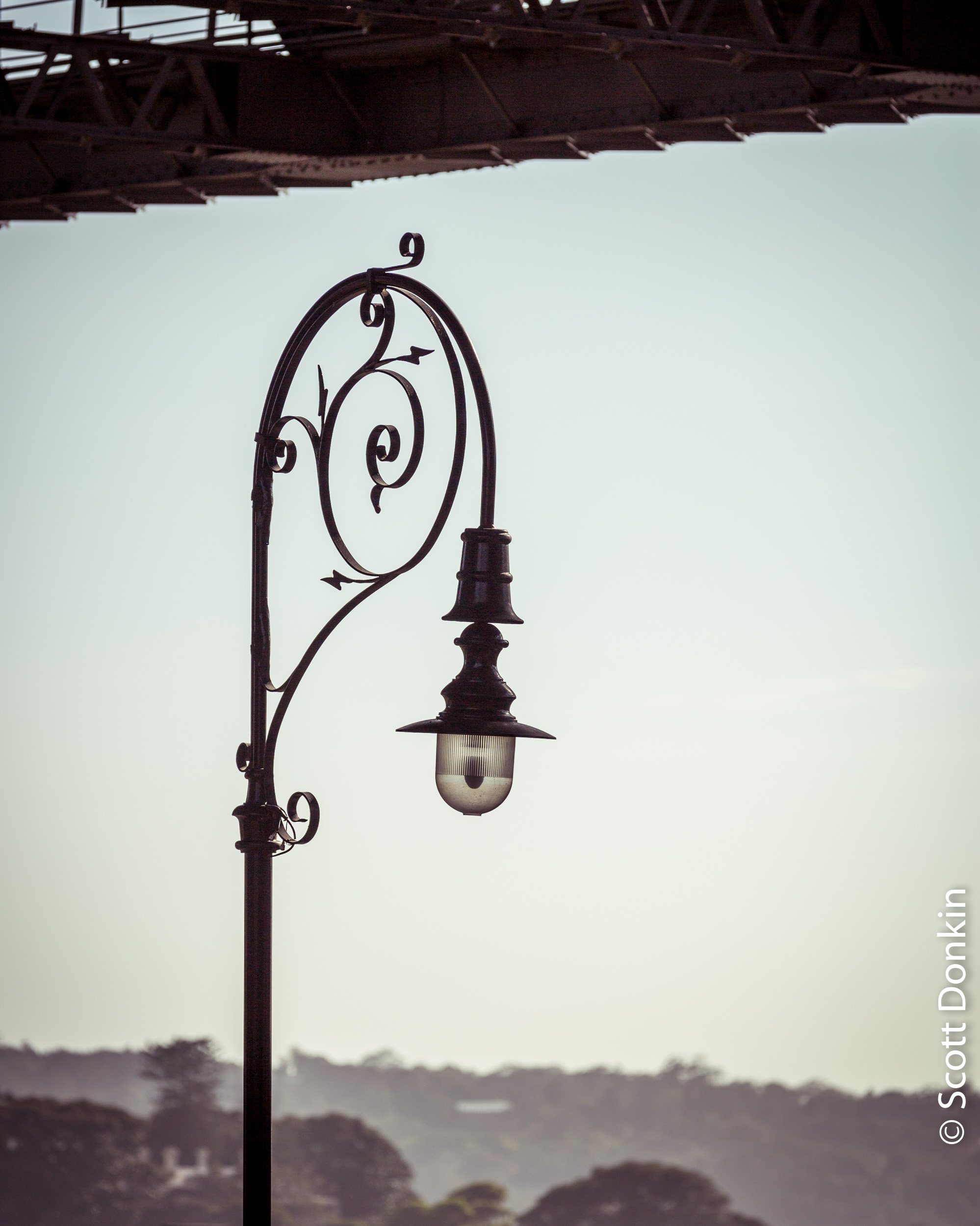 Ironwork lamp. Sydney Harbour Bridge.