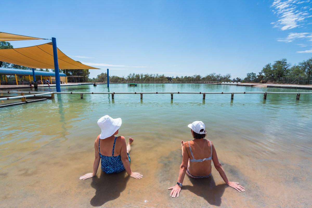 Bathers, Mineral Pool, Barmedman, Regional NSW.